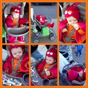 His first Halloween, at last!